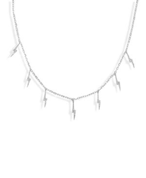 Pave Lighting Bolt Charm Necklace