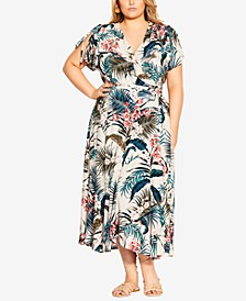 Trendy Plus Size Maldives Love Maxi Dress