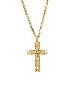 14K Gold-Dipped Cross Necklace