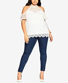 Trendy Plus Size Lace Magic Top