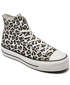 Women's Chuck Taylor All Star Archive Print Platform High Top Casual Sneakers from Finish Line