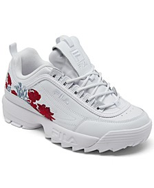 Women's Disruptor II Flower Casual Sneakers from Finish Line