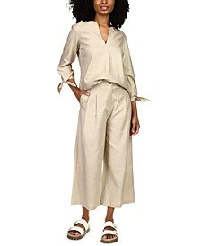 Cropped Wide-Leg Trousers, Regular & Petite Sizes