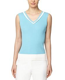 Colorblocked V-Neck Sweater