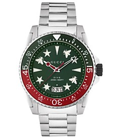 Men's Swiss Dive Stainless Steel Bracelet Watch 45mm
