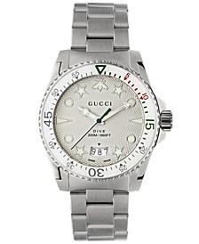 Men's Swiss Dive Stainless Steel Bracelet Watch 40mm