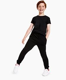 Big Boys Short Sleeve Solid Basic T-shirt, Created for Macy's