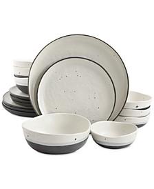 Elite Rhinebeck 16-Pc. Double Bowl Dinnerware Set
