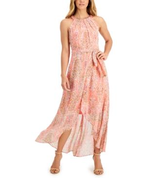 Halter High-Low Maxi Dress