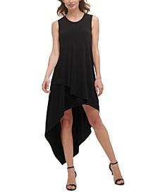 Asymmetrical High-Low Jersey Dress