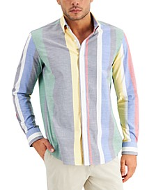 Men's Striped Oxford Shirt, Created for Macy's