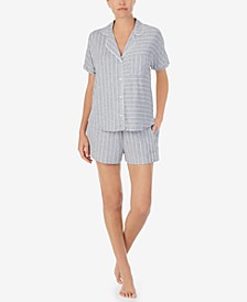 Printed Knit Boxer Shorts Pajama Set