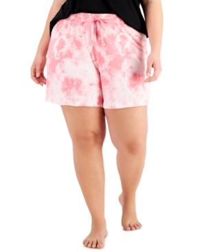 Plus Size Printed Knit Pajama Shorts