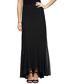 High-Low Flounce Maxi Skirt