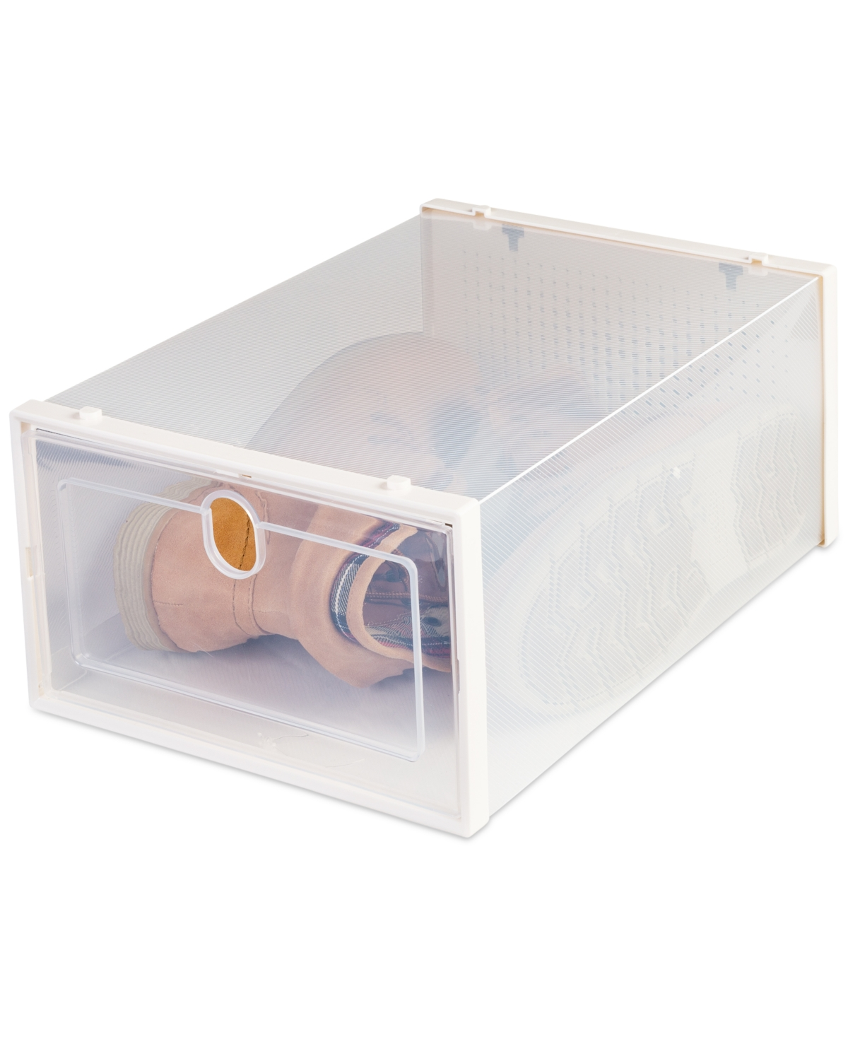 Honey Can Do Stackable Plastic Shoe Box Storage Containers, Set of 6