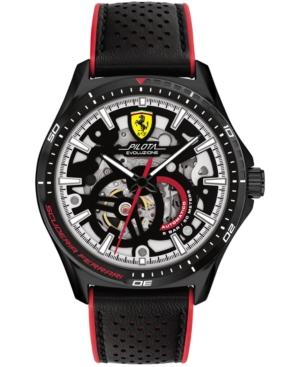 Men's Automatic Pilota Evo Black Leather Strap Watch 44mm