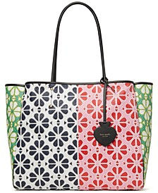 Everything Spade Flower Extra Large Tote