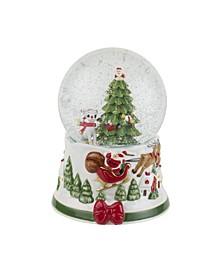 Christmas Tree Rudolph Snow Globe