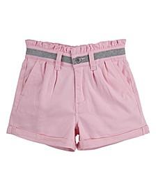 Big Girls Paperbag High Rise Shorty Shorts