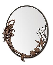 Mermaid Oval Antique Wall Mirror
