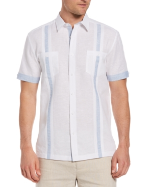 Men's Guayabera Striped Short-Sleeve Shirt
