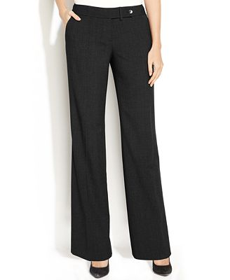 Calvin Klein Classic-Fit Trousers - Wear to Work - Women - Macy's
