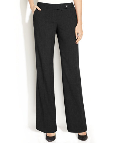 Calvin Klein Classic-Fit Trousers - Wear to Work - Women - Macy's