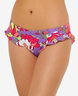 Juniors' Impressionist Ruffled Bikini Bottoms