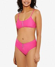 Zippered Bikini Top & Bottoms, Created for Macy's