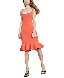 Gigi Flounce-Hem Midi Dress