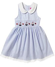 Toddler Girls Multi Plaid Sleeveless Taffeta Dress
