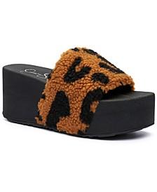 Women's Faille Slide Sandals