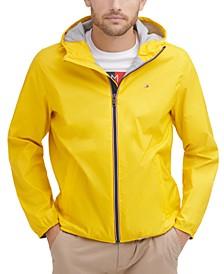 Men's Zip-Front Hooded Windbreaker