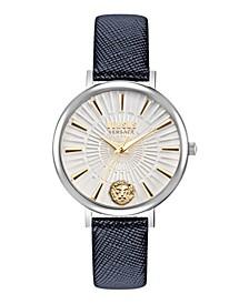 Versus Women's Mar Vista Blue Leather Strap Watch 34mm