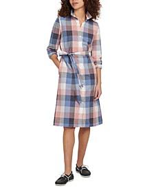Checkered Belted Shirtdress
