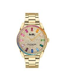 Women's Preston Rainbow Gold-Tone Bracelet Watch 36mm