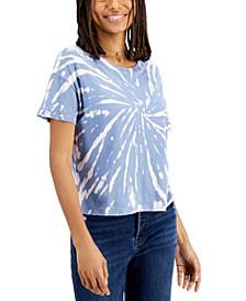 Juniors' Cotton Tie-Dyed T-Shirt