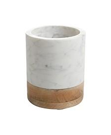 Laurie Gates Marble & Wood Tool Crock
