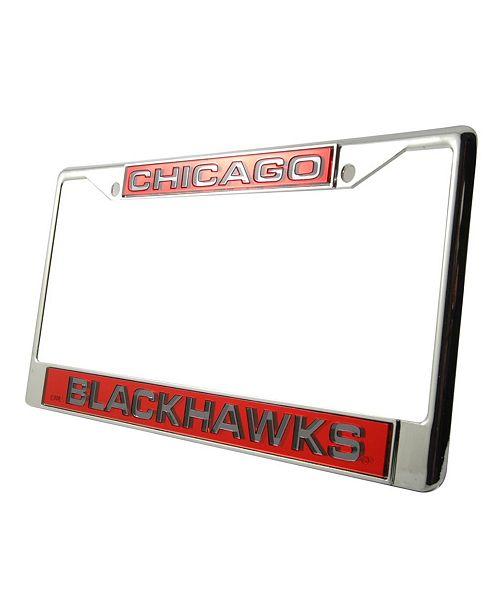 Rico Industries Chicago Blackhawks Laser License Plate Frame