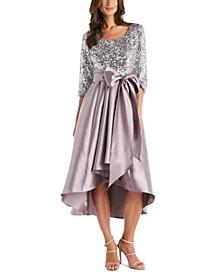 Sequin-Top High-Low Dress