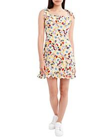 Floral-Print Woven Mini Dress