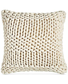 """Chunky Knit Decorative Pillow, 18"""" x 18"""", Created for Macy's"""