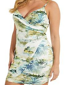 Elsie Printed Faux-Wrap Bodycon Dress