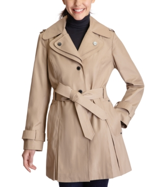 Double-Collar Hooded Trench Coat