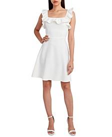 Knit Ruffled Mini Dress
