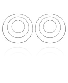 Silver-tone Set of 3 Endless Hoops