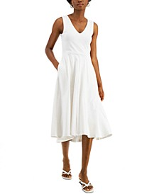 Solid V-Neck Tank Dress, Created for Macy's
