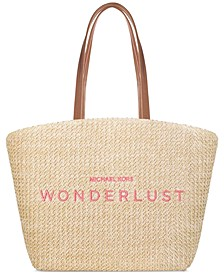 Receive a Complimentary Michael Kors Straw Tote with any $100 purchase from the Michael Kors Wonderlust Fragrance Collection