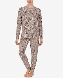 Brushed Sweater-Knit Pajama Set