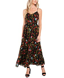 Printed Ruffled-Hem Dress